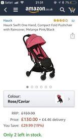 Lightweight Hauck Swift stroller