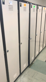 Commercial metal lockers large quantity