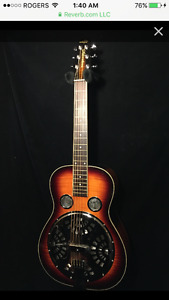 Wechter Scheerhorn 6524R Curly Maple Dobro/Resonator Guitar