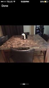 Bar too high top granite dining room table  Cambridge Kitchener Area image 2