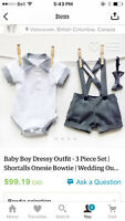 Baby Boy 6-12 month tux outfit