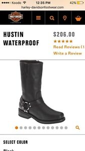 Water proof Harley Davidson boots