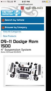 4in zone lift kit for dodge rams
