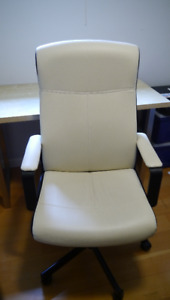 Ikea Malkom desk swivel chair white $150