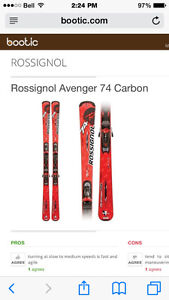 Rossignol Avenger skis 146cm bindings and size 9 Head boots& pol