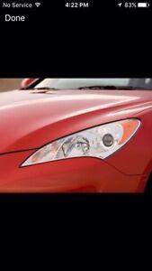 2010  Hyundai  Genesis GT LH headlight