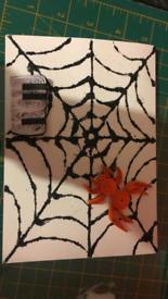 Handmade quilling card halloween