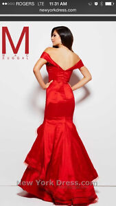 Red ballroom gown London Ontario image 3