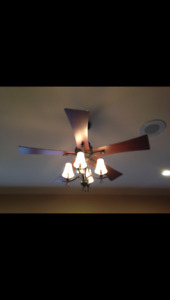 Hampton Bay Ceiling Fan Model :AC552 With Light and Remote