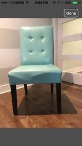 Side chair in mint- turquoise
