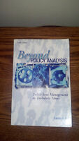 Beyond Policy Analysis: Public Issue Management