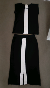 Women's top and skirt set