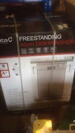 New cata dish washer slim line.