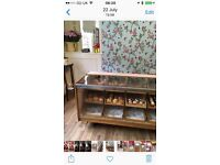 Beautiful vintage counter and cabinet retail display