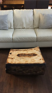 Custom cut live edge coffee/end tables