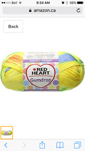 Looking for Red Heart Gumdrop Yarn in Lemon