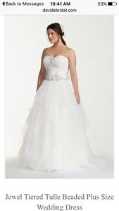 David's Bridal *Brand new* white wedding gown size 22