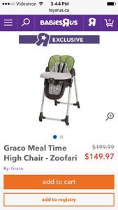 graco zoofari - chair/swing - chaise/parc/balancoire