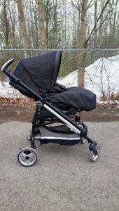 Poussette + siège d'auto Peg Perego Switch four Denim