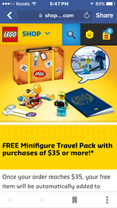 Lego Exclusive Travel Suitcase 5004932