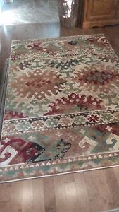 """5'3""""x7'7"""" multi/cream area carpet"""