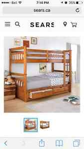 Twin solid wood bunk bed