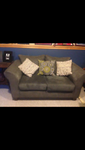 Grey Suede Couch