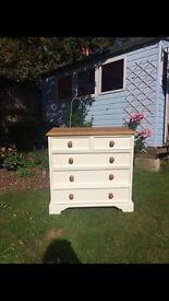 Lovely Solid Old Pine Shabby Chic Chest of Drawers