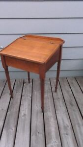 Antique Solid Wood Child's Slant Top Desk Great Entrance Table London Ontario image 1