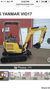Wanted to buy minni excavator