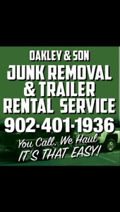 #Supportlocal Low Rates Junk Removal / Trailer Rental Service
