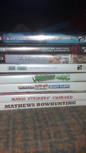 wii games and ps3 games $5.00 each
