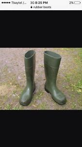 Sized 14 or 15 men's rubber boots
