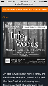 Into The Woods: Grant Macewan Sunday March 26
