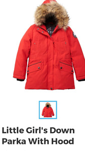 Brand new Little girls down parka jacket