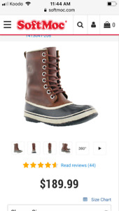 Sorel leather winter boots