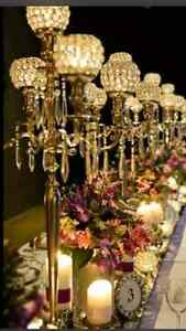 Candelabras for Rent for any Event + full Wedding Services