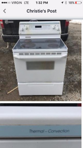 Electric oven and a propane electric start oven