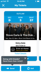 2 Steve Earle 30th Anniversary Copperhead Road concert tickets