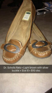 Dr. Scholls Brown Flats