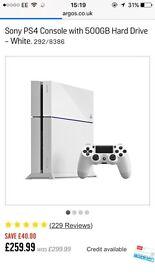 Brand new white PS4 500gb