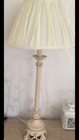 Shabby chic lamp and shade