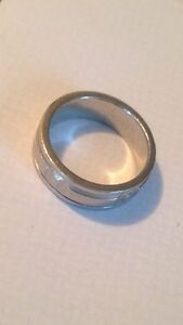Men's platinum ring.