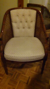 Pair of Vintage French Country Cane chairs, Excellent condition.