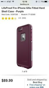 FRE purple Lifeproof case for iPhone 6/6s