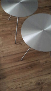 Modern steel end tables