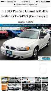 2003 Pontiac Grand Am White Sedan