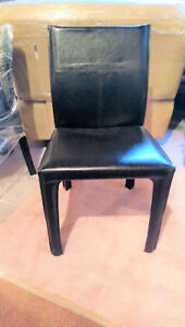 Dining 4 Chair Set  - Real Hide Leather (Like New)