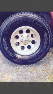 5 rims and tires for sidekick/tracker
