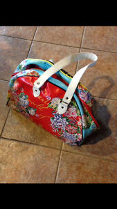 Ed Hardy bag/small Puma bag/Air Canada travel bag on wheels
